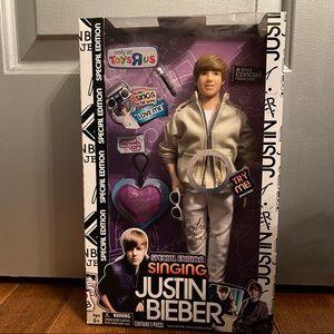 Singing Justin Bieber doll